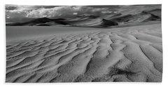 Storm Over Sand Dunes Bath Towel