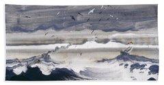 Stormy Sea Bath Towel by Peder Balke