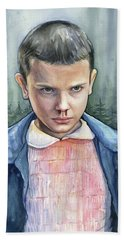Stranger Things Eleven Portrait Bath Towel