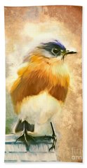 Strapping Bluebird Hand Towel by Tina LeCour