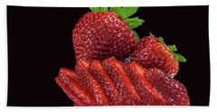 Strawberries Hand Towel by Shirley Mangini