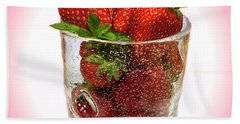 Strawberry Dessert Hand Towel by David French
