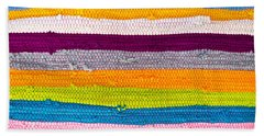 Striped Textile Bath Towel