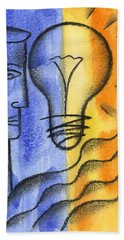 Bath Towel featuring the painting Success by Leon Zernitsky