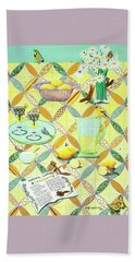Summer Lavender Lemonade Bath Towel by Jennifer Lake