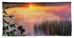 Hand Towel featuring the photograph Summer Sunrise Square by Bill Wakeley