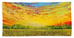 Hand Towel featuring the painting Summer by Teresa Wegrzyn