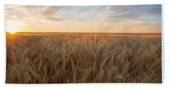 Hand Towel featuring the photograph Summer Wheat by Lynn Hopwood
