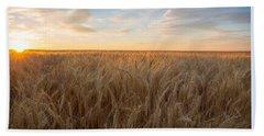 Bath Towel featuring the photograph Summer Wheat by Lynn Hopwood