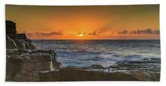 Sun Rising Over The Sea Bath Towel