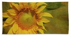 Helianthus Annuus Photographs Bath Towels