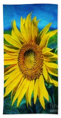 Bath Towel featuring the digital art Sunflower by Ian Mitchell