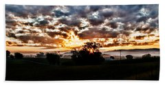 Sunrise Over Fields Bath Towel