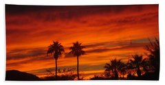 Sunrise Over Palm Desert Hand Towel