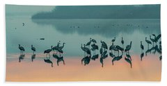 Sunrise Over The Hula Valley Bath Towel