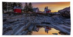 Sunrise At Pemaquid Point II Hand Towel