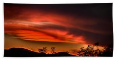 Sunset Hand Towel by Alessandro Della Pietra
