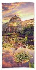 Bath Towel featuring the photograph  Sunset At Phipps Conservatory by Emmanuel Panagiotakis