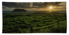 Sunset At Point Sur Bath Towel