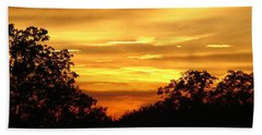 Hand Towel featuring the photograph Sunset by Heidi Poulin