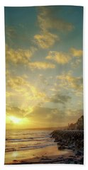 Bath Towel featuring the photograph Sunset In The Coast by Carlos Caetano
