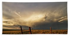 Sunset Near Santa Rosa New Mexico Hand Towel