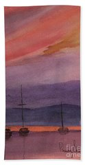 Sunset On Madeline Island Hand Towel