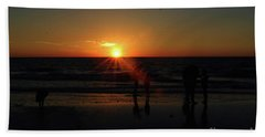 Sunset On The Beach Hand Towel by Gary Wonning