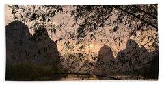 Sunset On The Li River Hand Towel