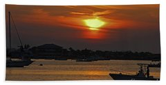 Bath Towel featuring the photograph 1- Sunset Over The Intracoastal by Joseph Keane