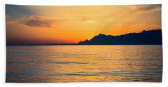 Sunset Over The Sea Bath Towel