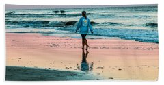 Sunset Stroll In The Surf Hilton Head Hand Towel