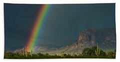 Bath Towel featuring the photograph Superstition Rainbow  by Saija Lehtonen