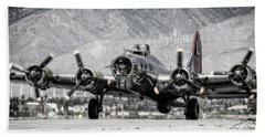B-17 Bomber Madras Maiden  Hand Towel