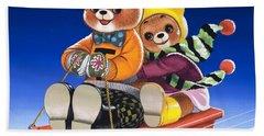 Teddy Bear Sleigh Ride Bath Towel