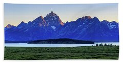 Hand Towel featuring the photograph Teton Sunset by David Chandler