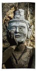 Thai Yoga Statue At Wat Pho  Bath Towel