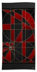 The Alchemy - Divine Proportions - Red On Black Bath Towel