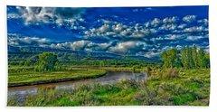 The Animas River In Colorado Bath Towel