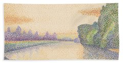 The Banks Of The Marne At Dawn Hand Towel
