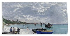 The Beach At Sainte Adresse Hand Towel