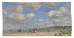 The Beach At Tourgeville Les Sablons Hand Towel