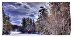 Hand Towel featuring the photograph The Beaver Brook Boathouse by David Patterson