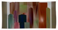 Hand Towel featuring the digital art The Block by John Krakora