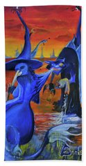 The Cat And The Witch Hand Towel