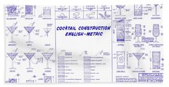The Cocktail Construction Blueprint Hand Towel