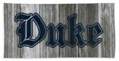 The Duke Blue Devils 1b Bath Towel by Brian Reaves