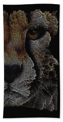 The Face Of A Cheetah Hand Towel by ISAW Gallery