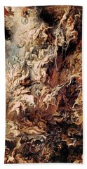 The Fall Of The Damned Hand Towel by Peter Paul Rubens
