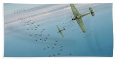Bath Towel featuring the photograph The Few by Gary Eason
